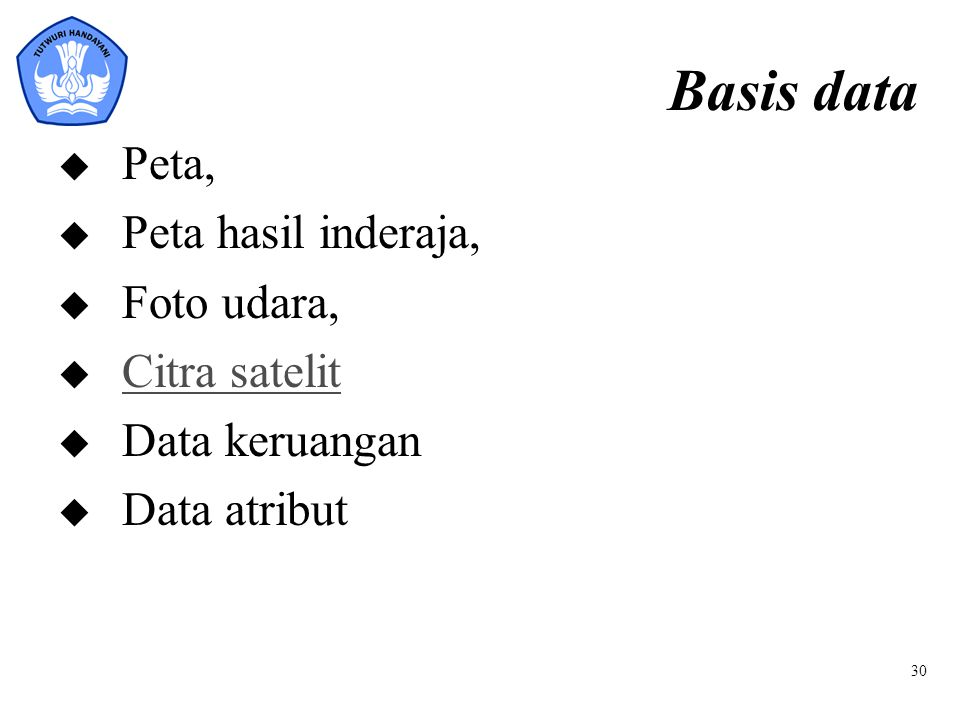 Basis data Peta, Peta hasil inderaja, Foto udara, Citra satelit