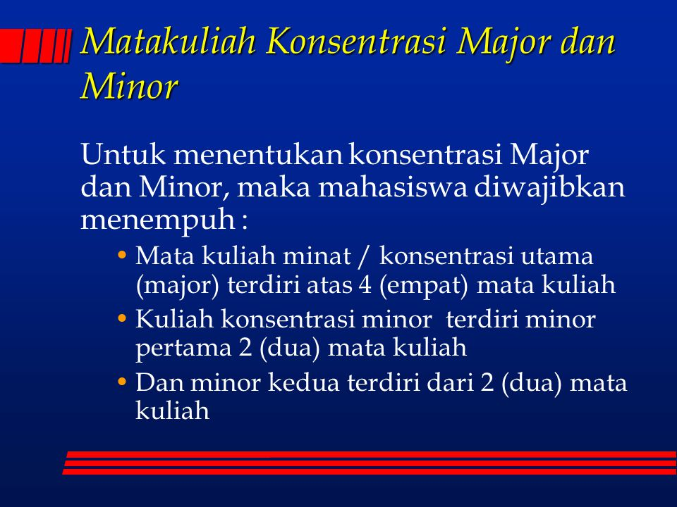 Matakuliah Konsentrasi Major dan Minor