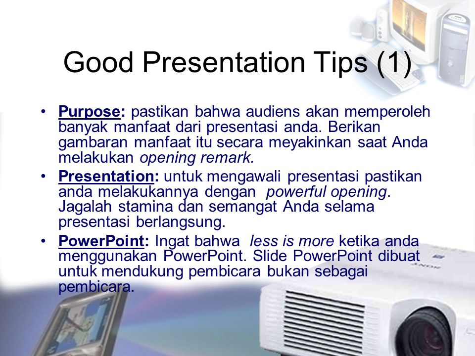 Good Presentation Tips (1)