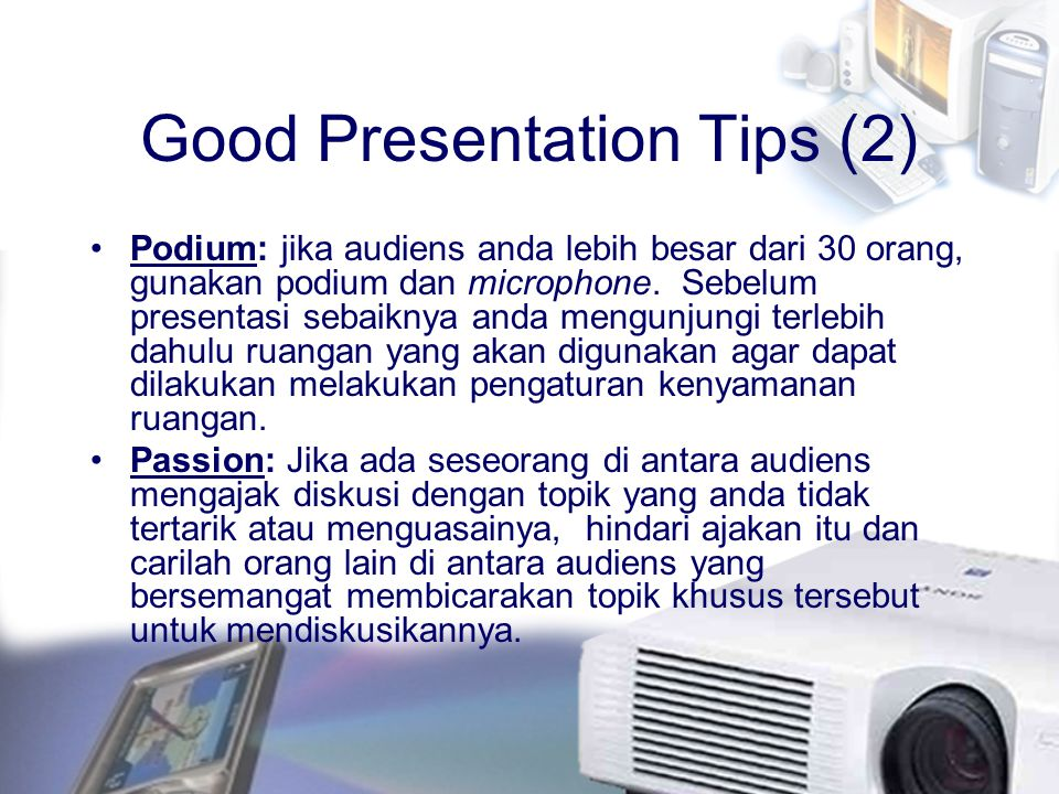 Good Presentation Tips (2)