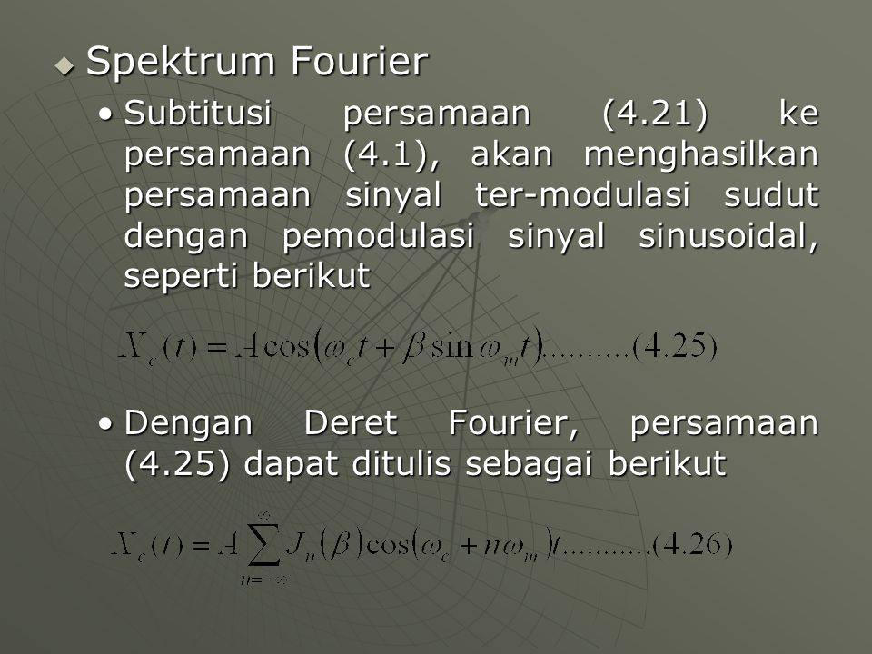 Spektrum Fourier