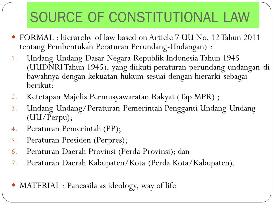 SOURCE OF CONSTITUTIONAL LAW