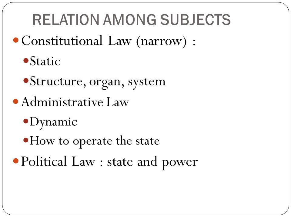 RELATION AMONG SUBJECTS