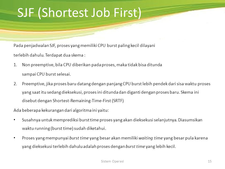 SJF (Shortest Job First)
