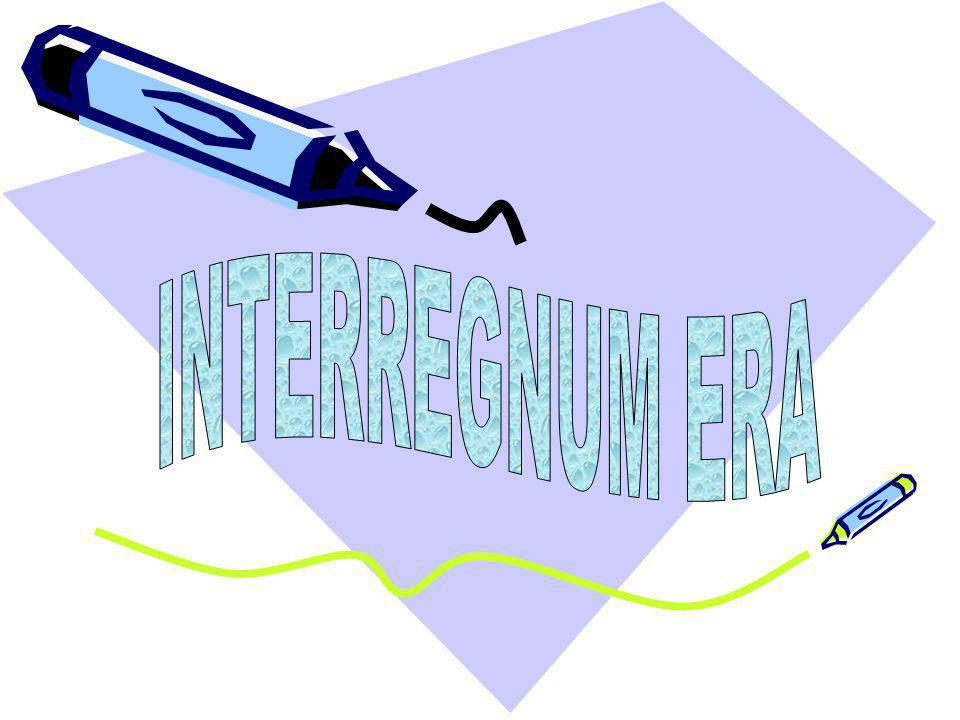 INTERREGNUM ERA