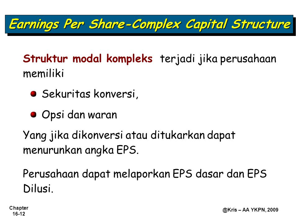 Earnings Per Share-Complex Capital Structure