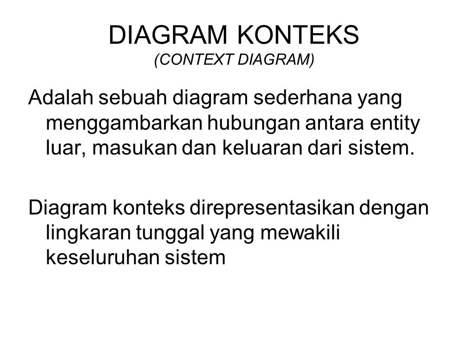 Konsep perancangan terstruktur ppt download 49 diagram konteks ccuart Images