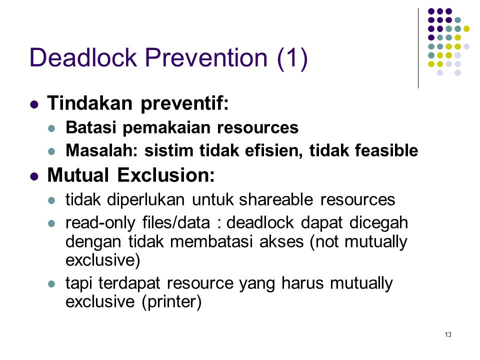 Deadlock Prevention (1)