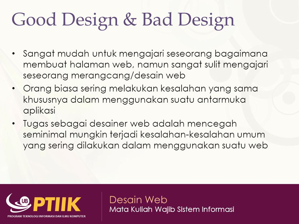 Good Design & Bad Design