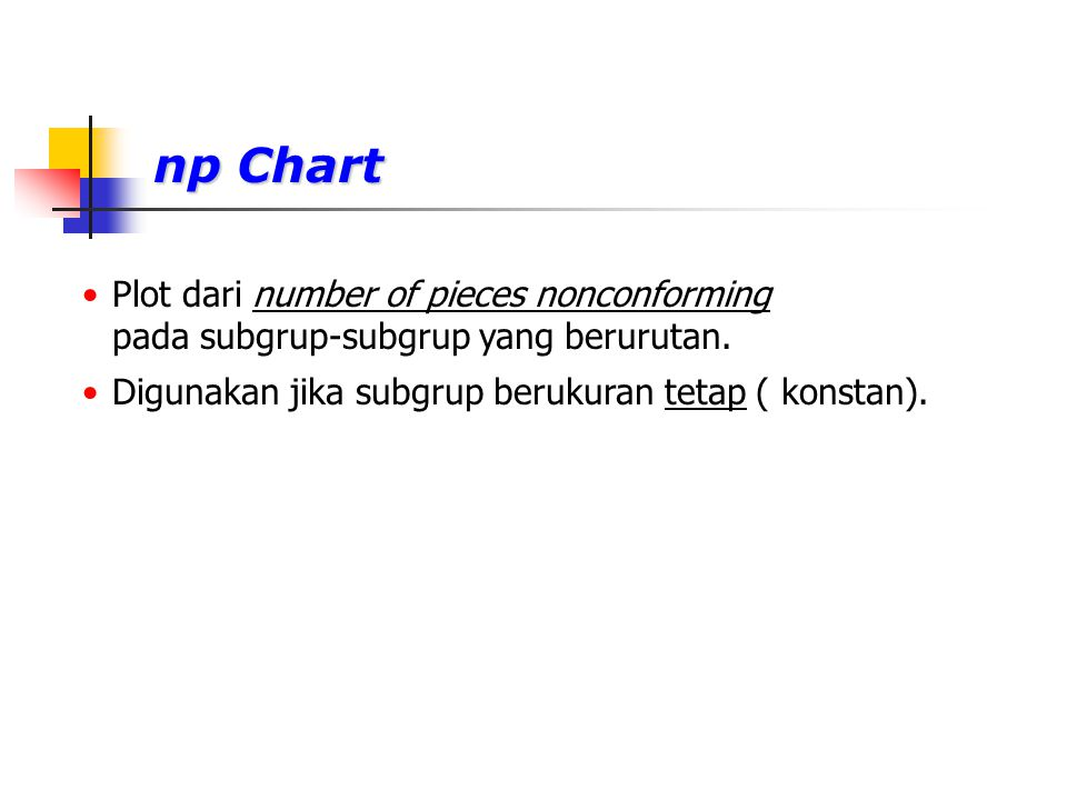 np Chart Plot dari number of pieces nonconforming