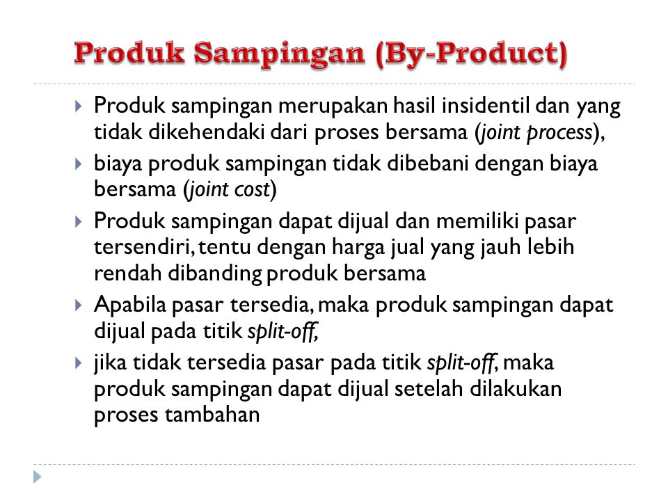 Produk Sampingan (By-Product)