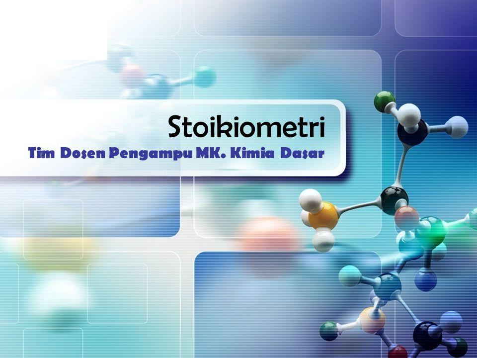 Ppt stoikiometri kimia powerpoint presentation id:5068620.