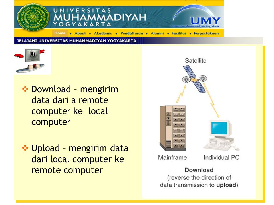 Download – mengirim data dari a remote computer ke local computer