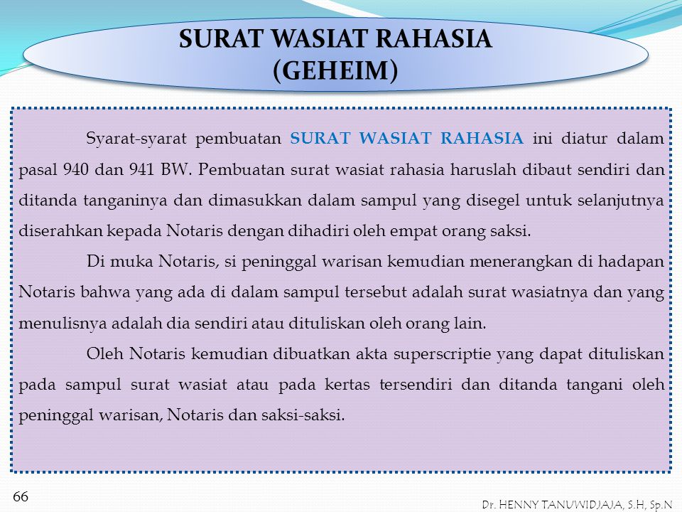 Dr Henny Tanuwidjaja Sh Spn Ppt Download