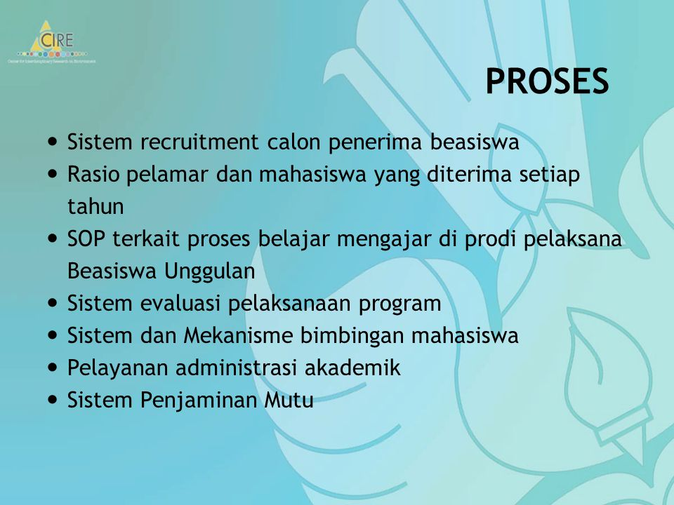 PROSES Sistem recruitment calon penerima beasiswa