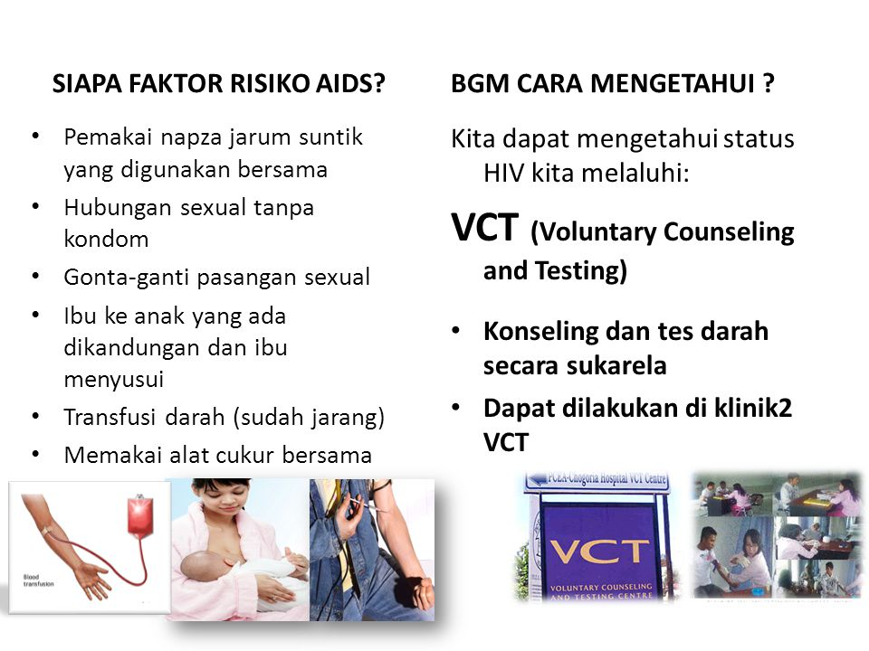 VCT (Voluntary Counseling and Testing)