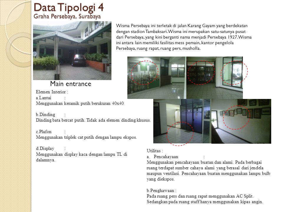 Data Tipologi 4 Main entrance Graha Persebaya, Surabaya