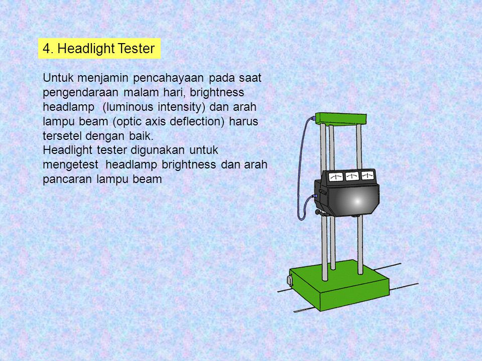 4. Headlight Tester