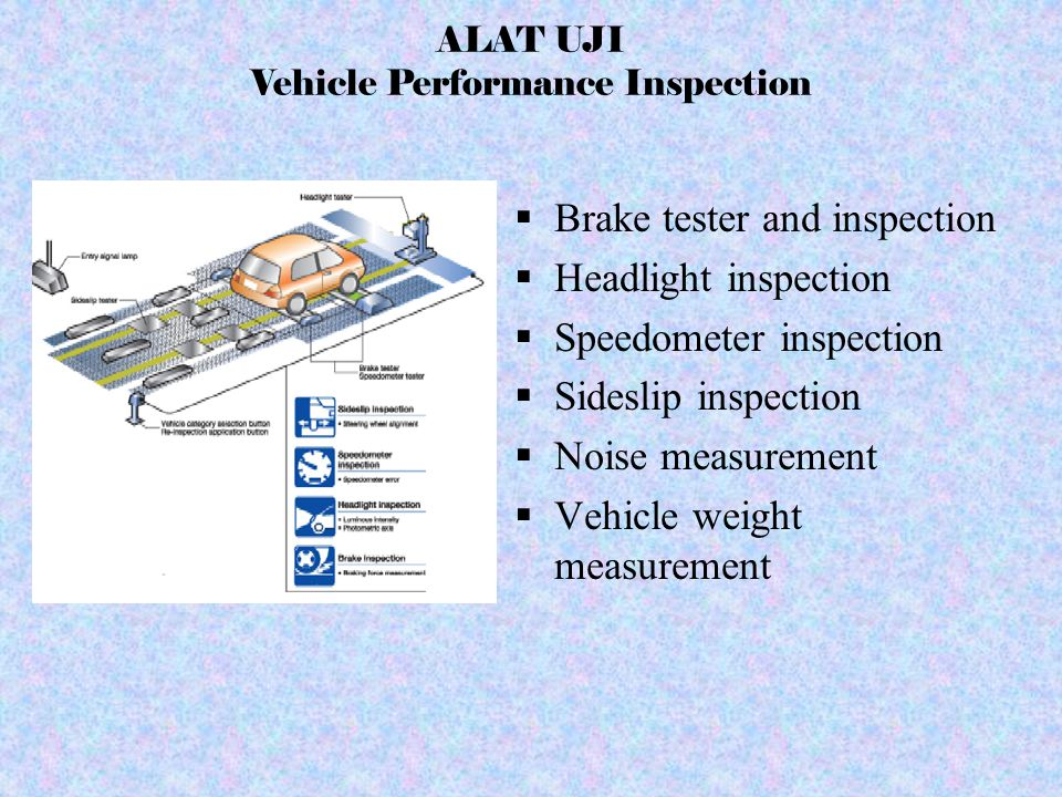 ALAT UJI Vehicle Performance Inspection