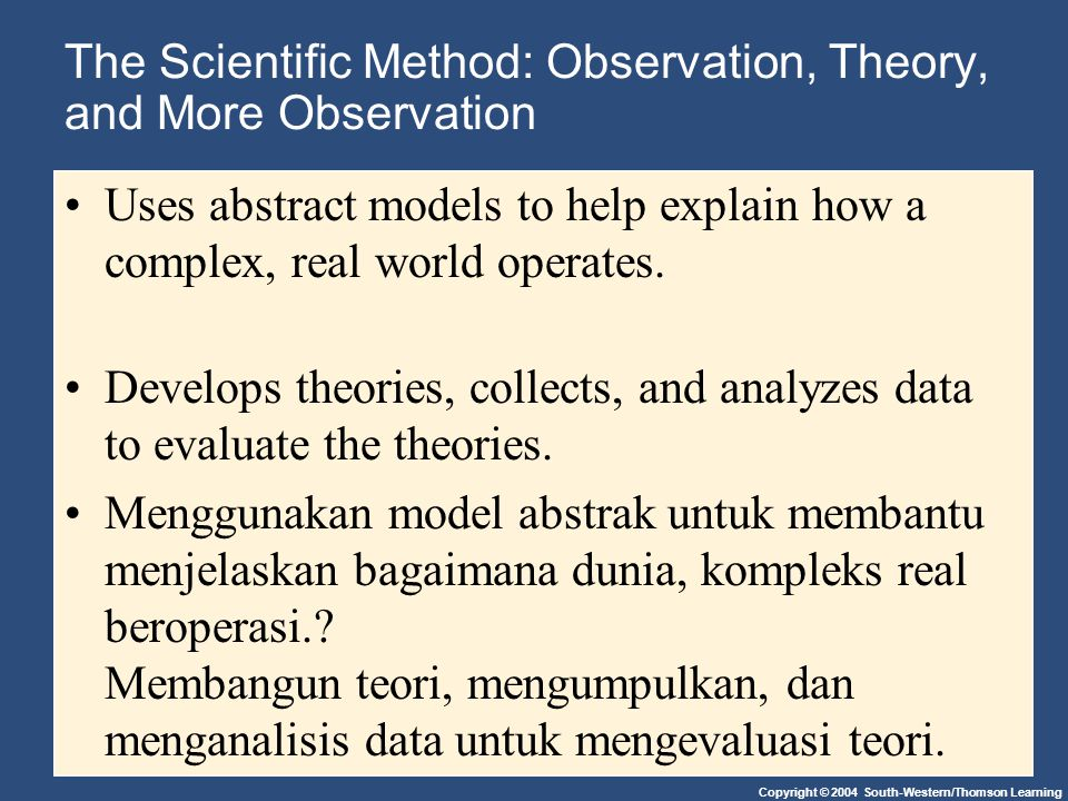 The Scientific Method: Observation, Theory, and More Observation