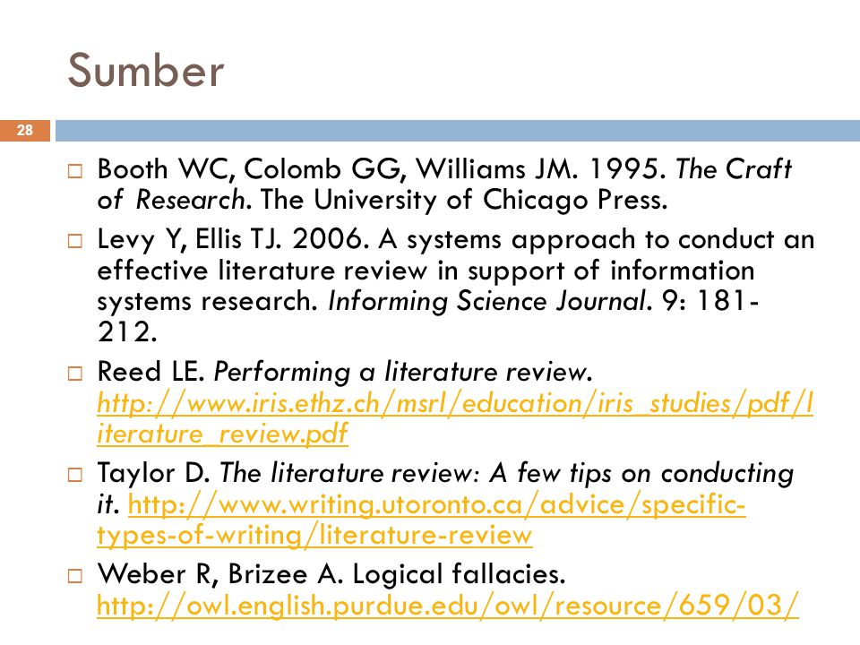 Sumber Booth WC, Colomb GG, Williams JM. 1995. The Craft of Research. The University of Chicago Press.