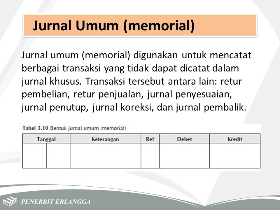 Jurnal Umum (memorial)