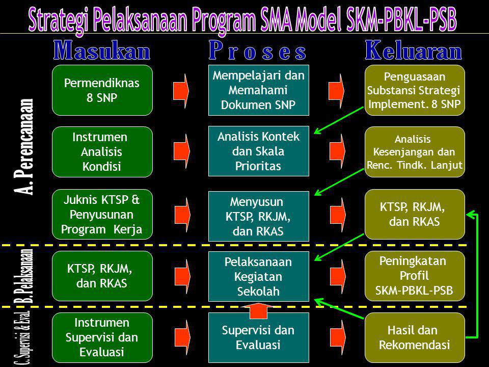 Strategi Pelaksanaan Program SMA Model SKM-PBKL-PSB