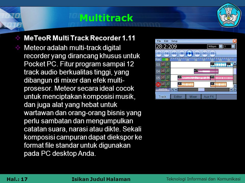 Multitrack MeTeoR Multi Track Recorder 1.11