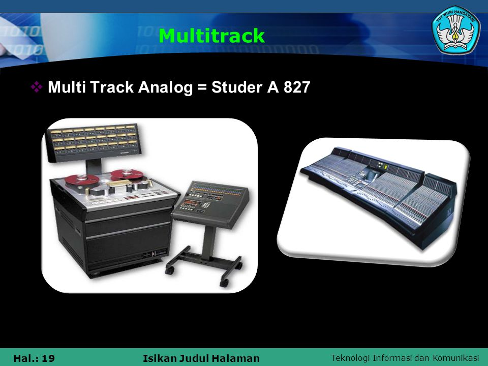 Multitrack Multi Track Analog = Studer A 827