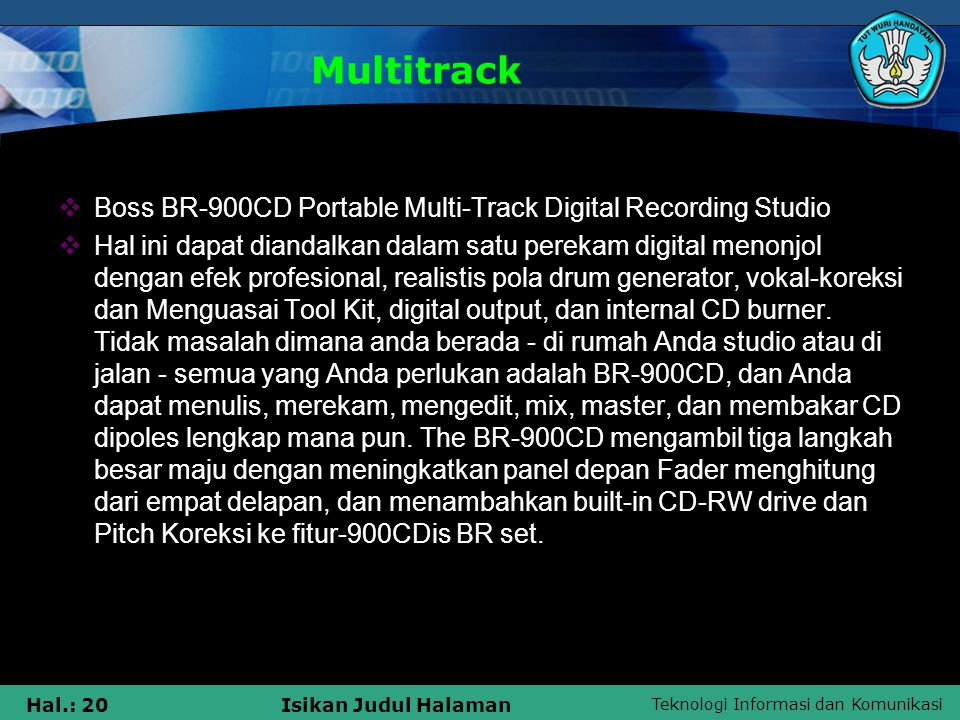 Multitrack Boss BR-900CD Portable Multi-Track Digital Recording Studio