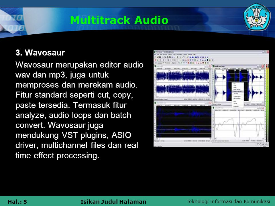 Multitrack Audio 3. Wavosaur