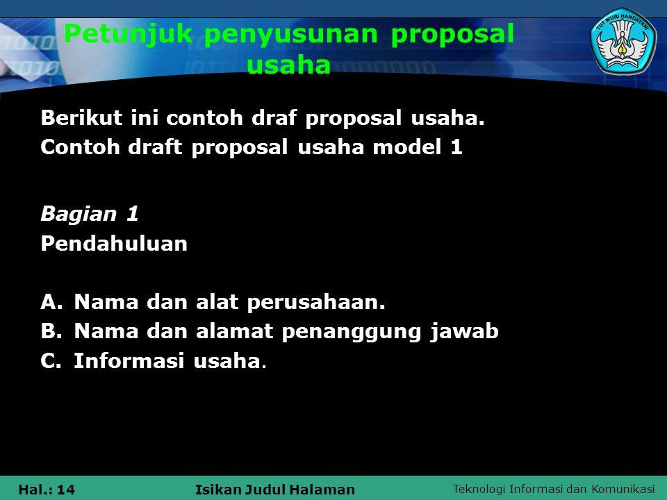 Menyusun Proposal Penawaran Ppt Download