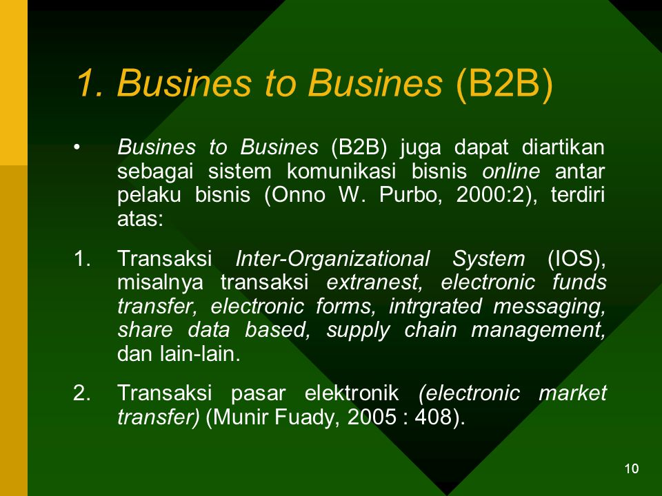 1. Busines to Busines (B2B)