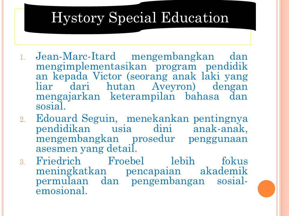 Hystory Special Education