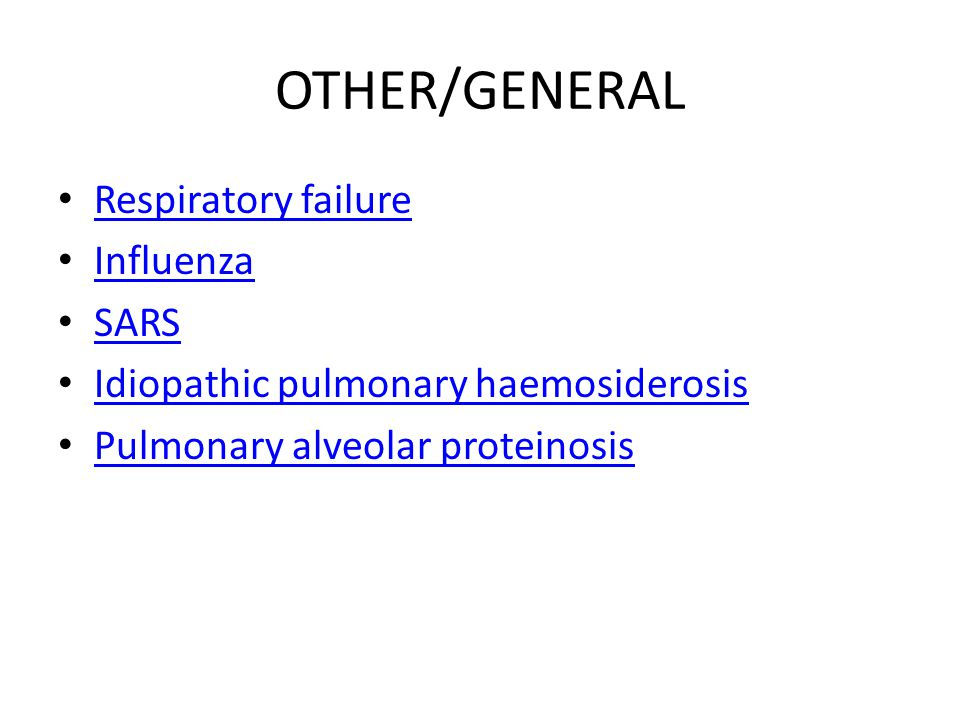 OTHER/GENERAL Respiratory failure Influenza SARS