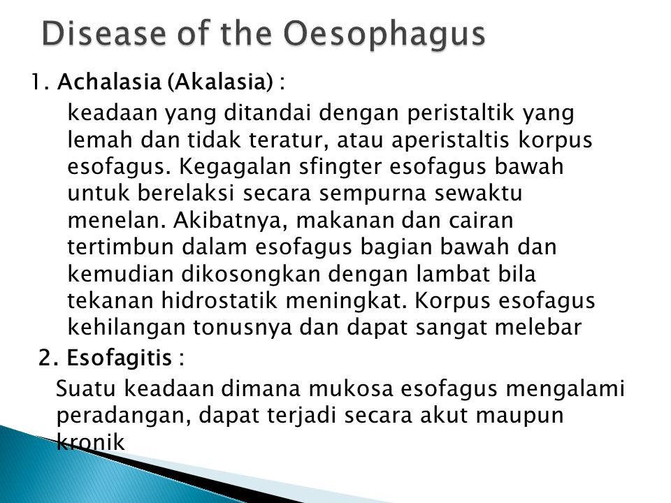 Disease of the Oesophagus