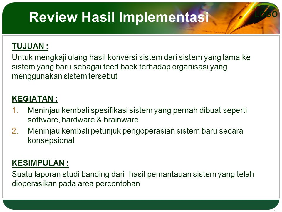 Review Hasil Implementasi
