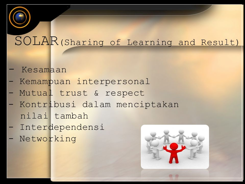 SOLAR(Sharing of Learning and Result)