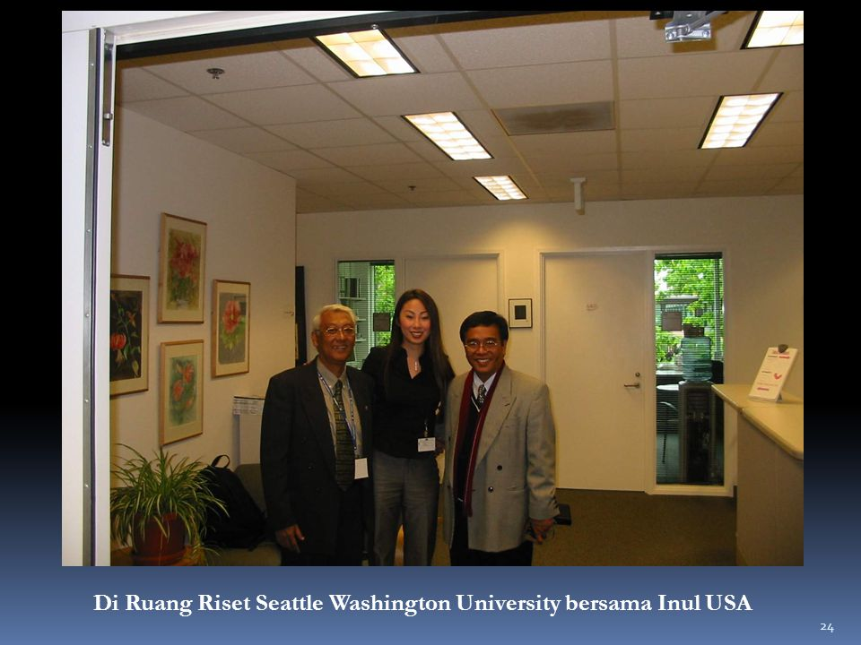 Di Ruang Riset Seattle Washington University bersama Inul USA