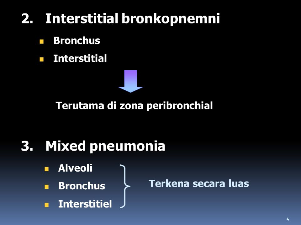 2. Interstitial bronkopnemni
