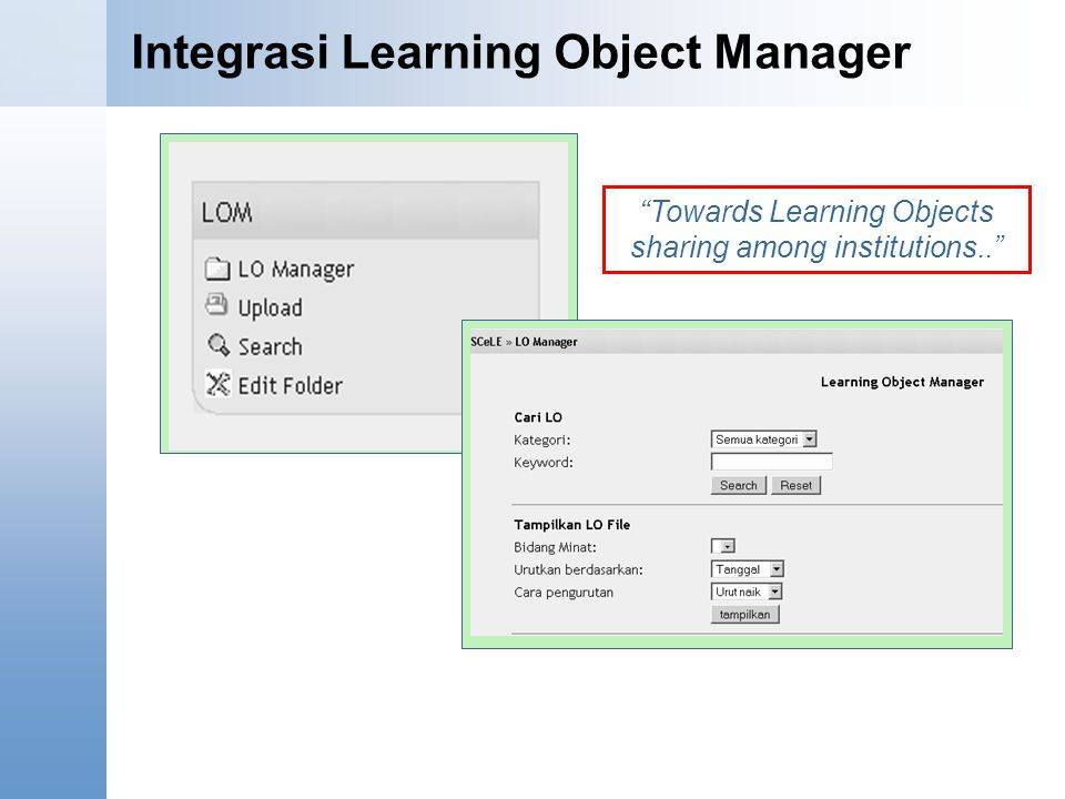 Integrasi Learning Object Manager