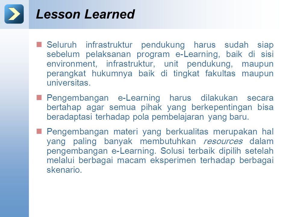 Lesson Learned Content Starter Set.
