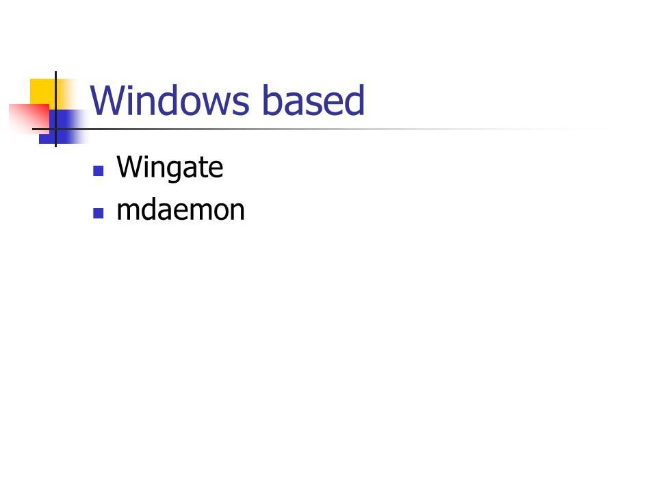 Windows based Wingate mdaemon