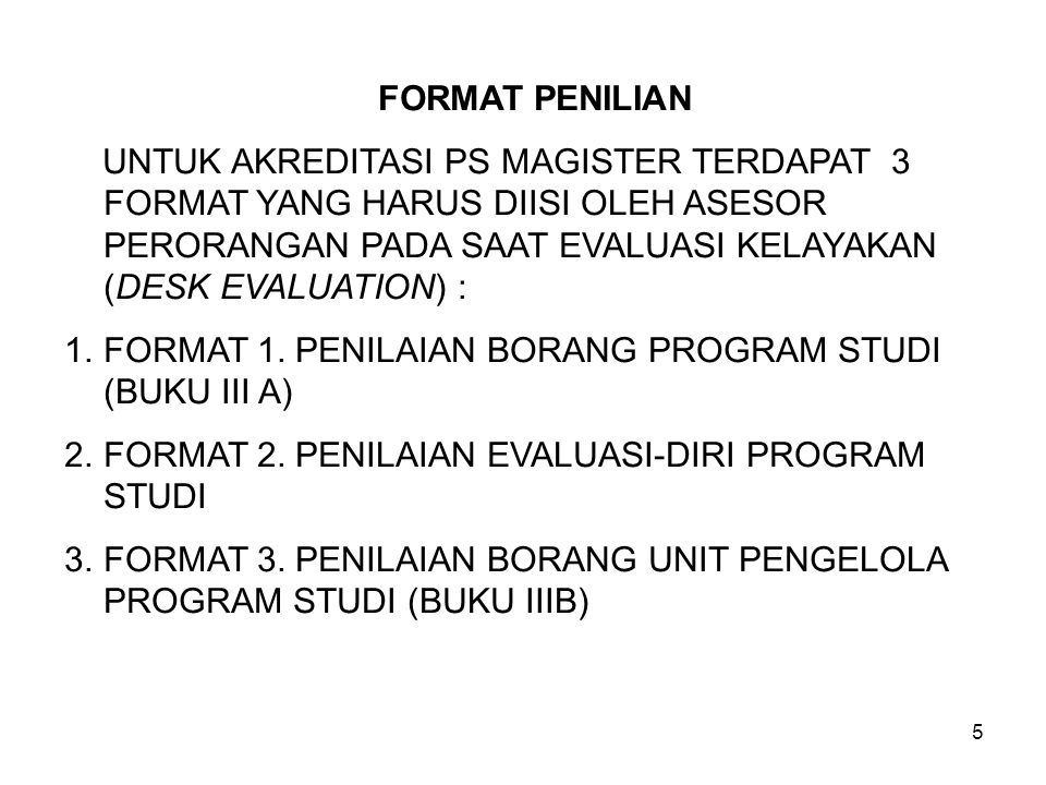 Instrumen Akreditasi Program Studi Magister Ppt Download