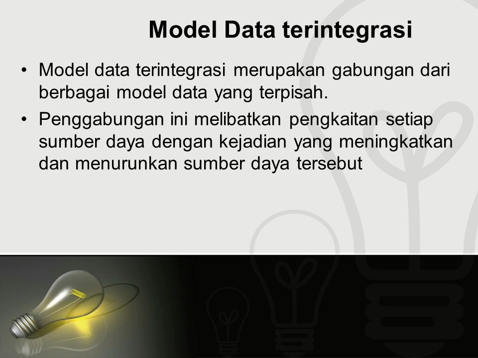 Model Data terintegrasi