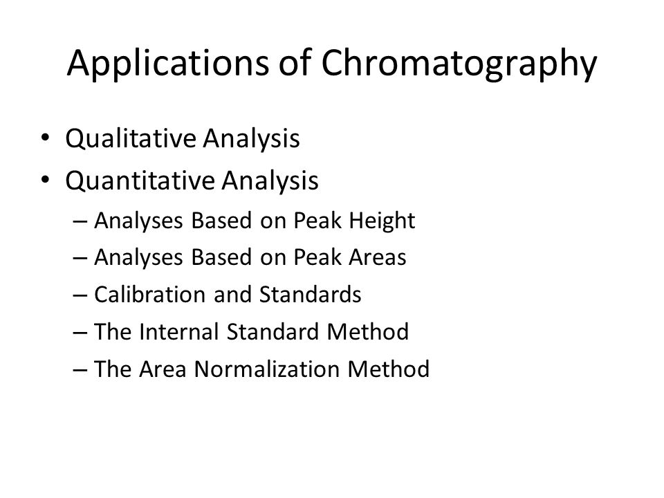 Applications of Chromatography