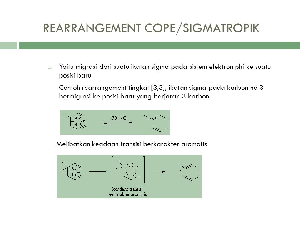 REARRANGEMENT COPE/SIGMATROPIK