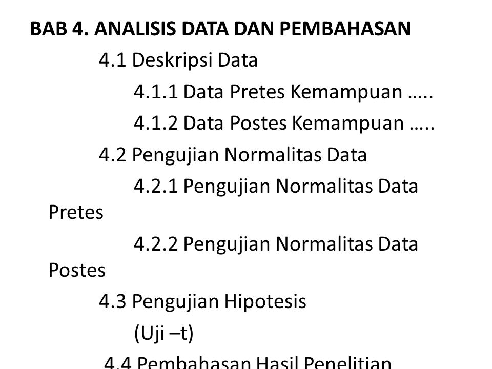 BAB 4. ANALISIS DATA DAN PEMBAHASAN 4. 1 Deskripsi Data 4. 1