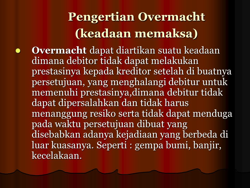 Overmacht Ppt Download
