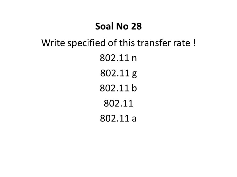 Write specified of this transfer rate !